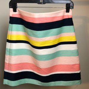 LOFT skirt size 4 Bold multi colored striped